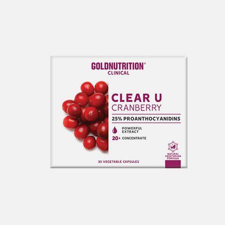 Clear U Cranberry – 30 cápsulas – Gold Nutrition