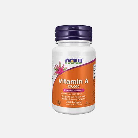 Vitamin A – 250 cápsulas – Now