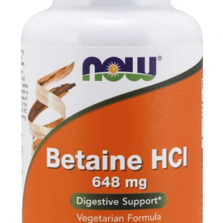 BETAINE HCL 648 mg – 120 comprimidos – Now