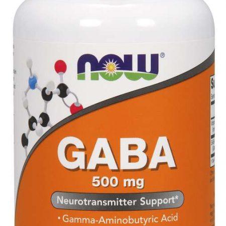 GABA 500MG – NOW – 100 CÁPSULAS