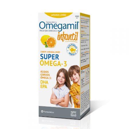 Omegamil Infantil Super Ómega 3 sabor Laranja Limão – 100 mL – Farmodiética