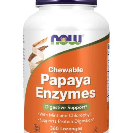 Papaya Enzymes – 180 comprimidos – Now