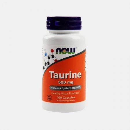 Taurine 500mg –100 cápsulas – Now
