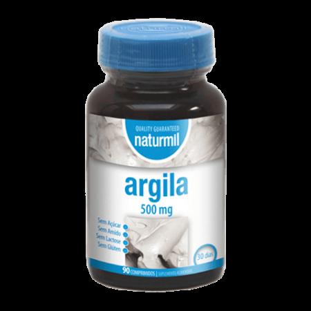 Naturmil Argila 500 mg – 90 comprimidos – DietMed