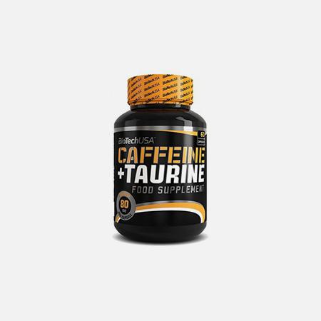 Caffeine + Taurine Capsulas – 60 cápsulas – BioTech USA