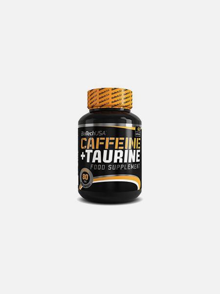 Caffeine + Taurine Capsulas - 60 cápsulas - BioTech USA