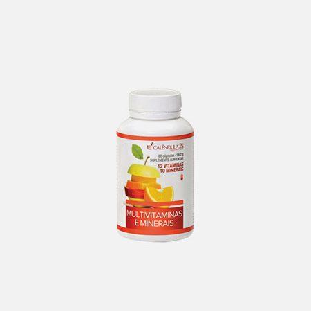 Multivitaminas e Minerais – 60 cápsulas – Calêndula
