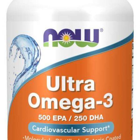 Ultra Ómega-3  (500 EPA/250 DHA) – 90 softgels – Now