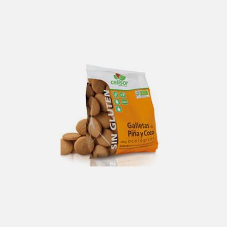 Bolachas de Ananás e Coco Biológicas – 200 g – Soria Natural