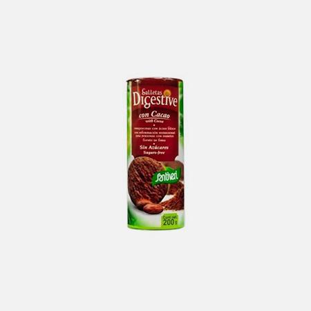 Bolachas Digestivas de Cacau – 190 g – Santiveri