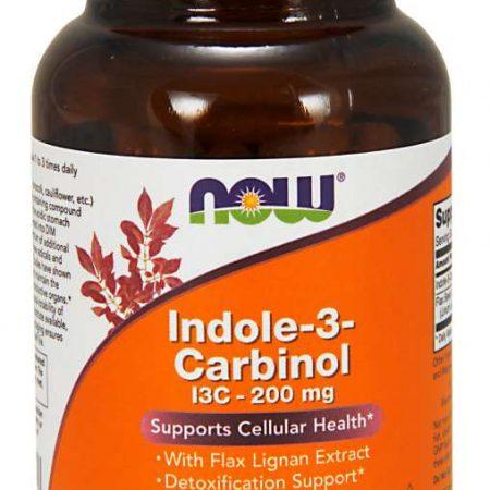 INDOLE-3-CARBINOL 200 mg – NOW – 60 CÁPSULAS