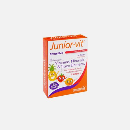 Júnior Vit – 30 comprimidos mastigáveis – HealthAid