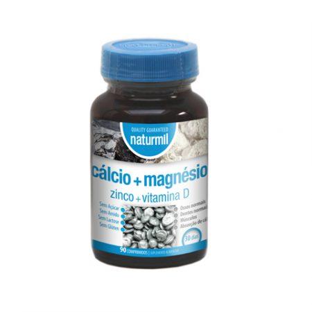 Naturmil Cálcio + Magnésio + Zinco e Vitamina D – 90 comprimidos – DietMed