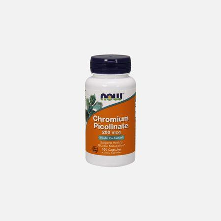 Chromium Picolinate 200 mcg – 100 cápsulas – Now