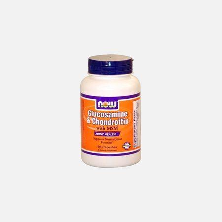 Glucosamina, Condroitina e MSM (500mg-400mg- 300mg) – Now – 90 cápsulas