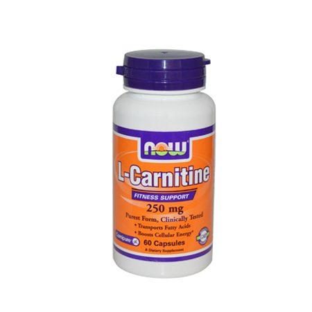 L-Carnitine tartrate 250mg – 60 cápsulas – Now