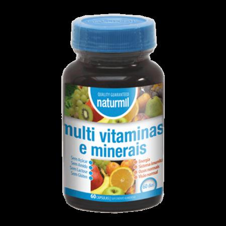 Naturmil Multi Vitaminas e Minerais – 60 cápsulas – DietMed