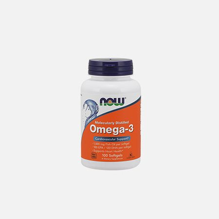 OMEGA 3 CHOLES FREE 100 (180 EPA 120 DHA) 1000mg – 100 cápsulas – Now
