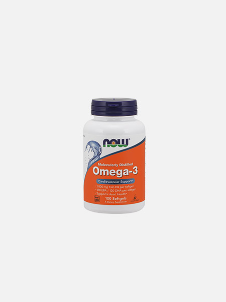 OMEGA 3 CHOLES FREE 100 (180 EPA 120 DHA) 1000mg - 100 cápsulas - Now