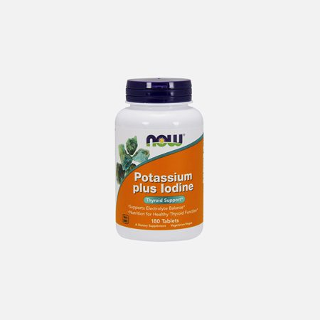 Potassium Plus Iodine – 180 comprimidos – Now