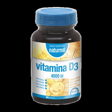 Naturmil Vitamina D3 (4.000UI) – 60 cápsulas – DietMed