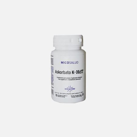 Askorbato K-HDT – 70 comprimidos – Hifas da Terra