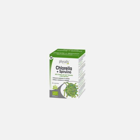 Physalis Chlorella + Spirulina – 200 comprimidos – Biocêutica
