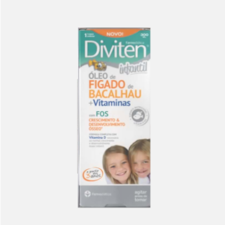 Diviten Infantil com Óleo Figado de Bacalhau – Xarope 300ml – Farmodietica