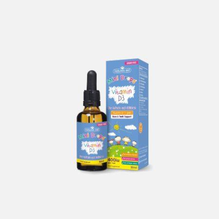 Vitamina D3 400iu Mini Drops infantil & criança – 50ml – Natures Aid