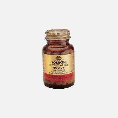 Ácido Fólico 400ug – 100 Comprimidos  – Solgar