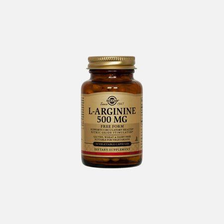 L-Arginina 500mg – 50 Cápsulas – Solgar