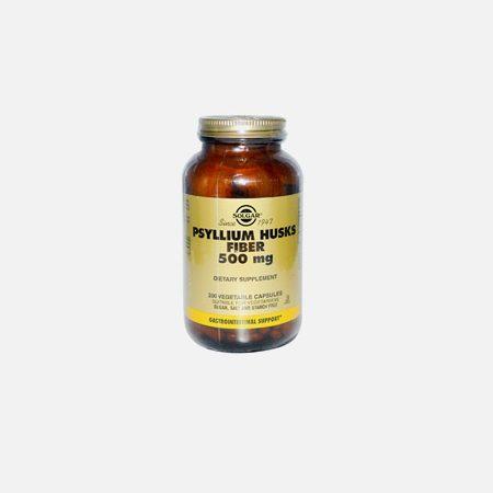 Psyllium Husks Fibre 500mg – 200 cápsulas – Solgar