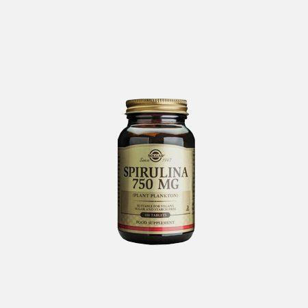Spirulina 750mg – Solgar – 100 comprimidos