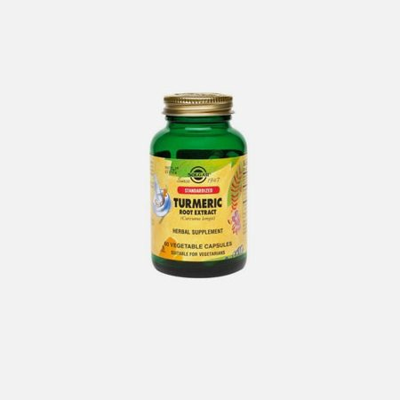 Açafrão-da-Índia (Curcuma longa) – Solgar – 60 cápsulas vegetais