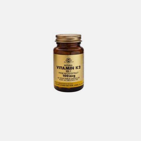 Vitamin K2 100ug – 50 comprimidos – Solgar