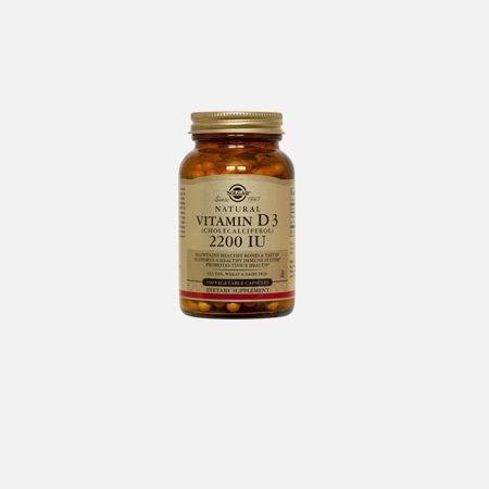 Vitamin D3 2200 IU – 100 Cápsulas – Solgar