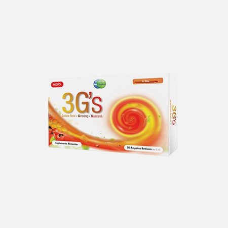 3 G'S (Geleia Real + Ginseng + Guaraná) – 20 Ampolas – BioCeutica