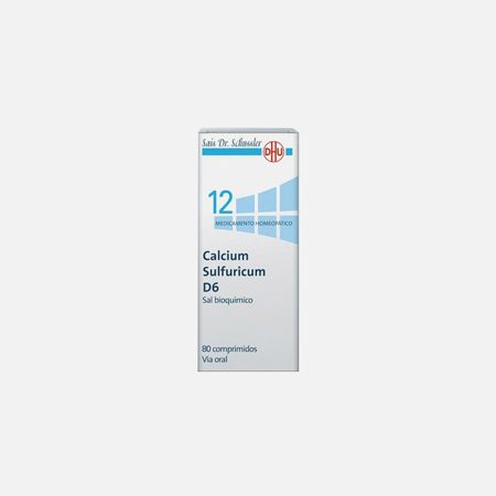 Calcium Sulfuricum D6  – 80 Comprimidos – DHU