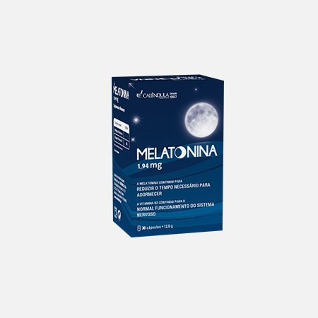 Melatonina 1,94 mg – 30 cápsulas – Calêndula