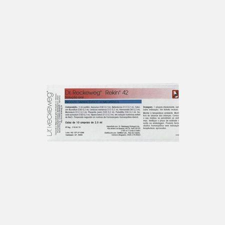 Rekin 42 – 10 ampolas bebíveis – Dr. Reckeweg