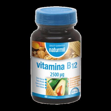 Naturmil Vitamina B12 2500µg – 60 comprimidos – Dietmed