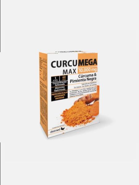 Curcumega Max 10.000mg - 60 cápsulas - DietMed