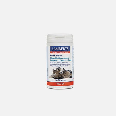 Chewable Glucosamine Complex for Dogs (& Cats) – 90 comprimidos – Lamberts