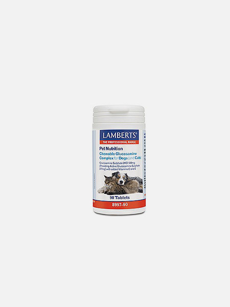 Chewable Glucosamine Complex for Dogs (& Cats) - 90 cápsulas - Lamberts