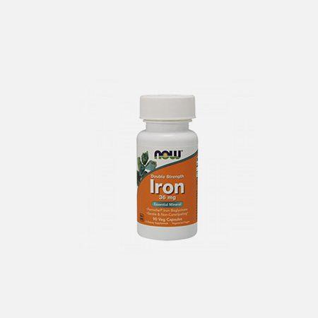 Double Strenght Iron 36mg – 90 cápsulas – Now