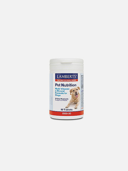 Multi Vitamin and Mineral Formula for Dogs - 90 cápsulas - Lamberts