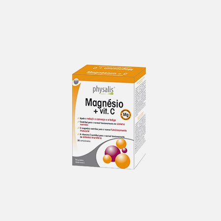 Physalis Magnésio + vit. C – 30 comprimidos – Biocêutica