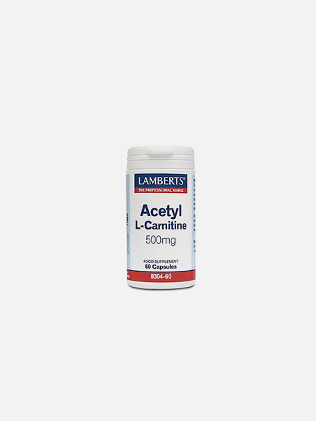 Acetyl L-Carnitine 500mg - 60 comprimidos - Lamberts