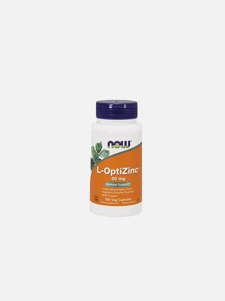 L-OptiZinc + Copper 30mg - 100 cápsulas - Now