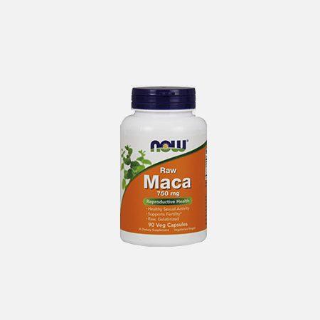 Maca 750 mg Raw – 90 cápsulas – Now